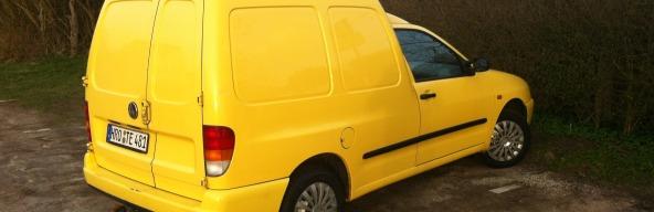 Baufahrzeug in Gelb