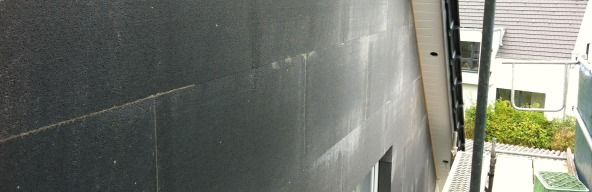 Fassadendämmung fertig