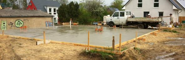 Bodenplatte errichten